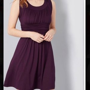 ModCloth I Love Your Jersey knit dress in plum